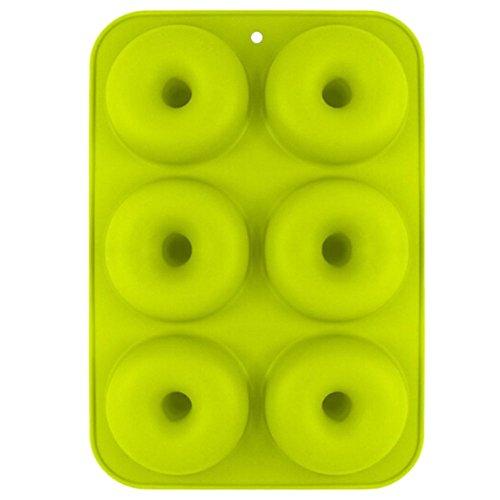 GARLIC PRESS Moldes de Silicona Donut Antiadherente Molde de Silicona Apto Molde para Donut de Silicona para Lavavajillas Horno Microondas Congelador Galletas Bagels Muffins (GN)