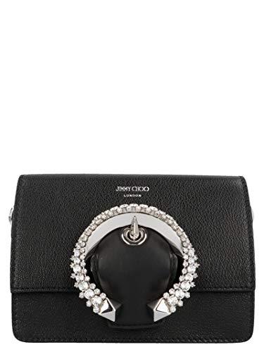 Jimmy Choo Luxury Fashion Donna MADELINESHOULDERBAGBLK Nero Borsa A Spalla   Autunno Inverno 19