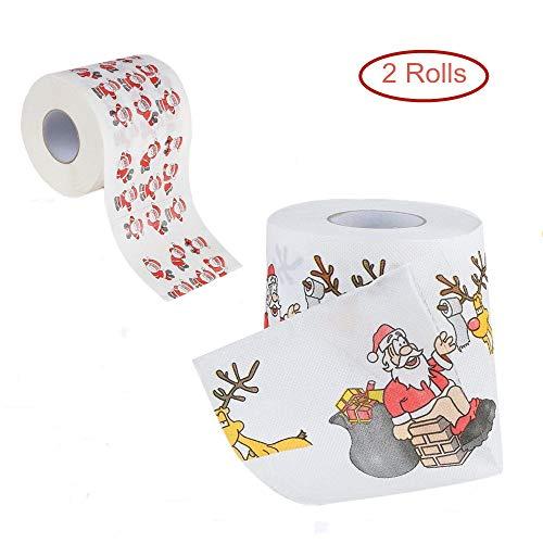 Chapter Seven Weihnachten Toilettenpapier, lustige Neuheit Toilettenpapier, Baddekorationen Weihnachten(2 Rollen)