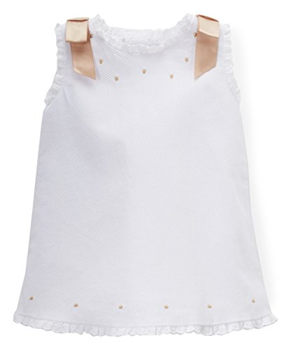PHLONA Baby Girls' Pique Dress White
