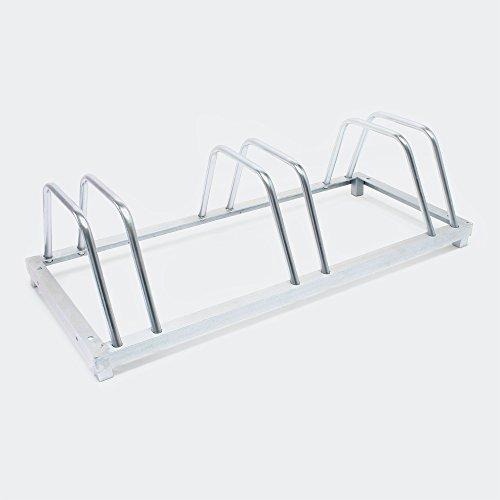 Fahrradständer für 3 Räder 88 x 39,5 x 24,5 cm verzinkt und für Wandmontage geeignet