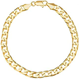 Gold Plated Classic Cubic Chain Style Bracelet for Men (A93MLP31G)