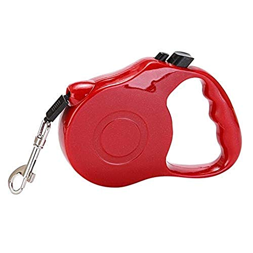 Dog traction rope Teddy Bomei small and medium-sized large dogs automatically retractable dog leash dog chain supplies(Red)