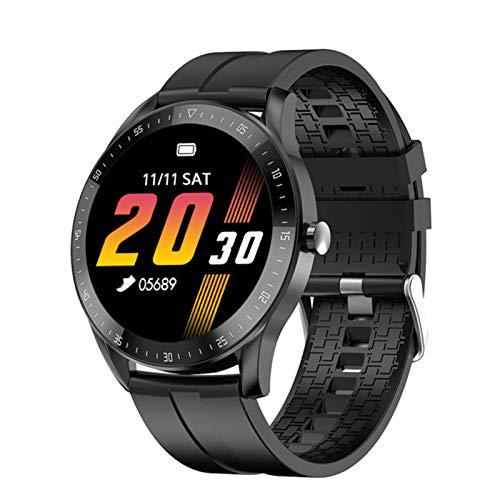 Pulsera IP68 Reloj Men's Y Mujer Presión Arterial Ritmo Cardíaco Reloj De Cuero F15 Smart para Android iOS Teléfono Móvil Clock,C
