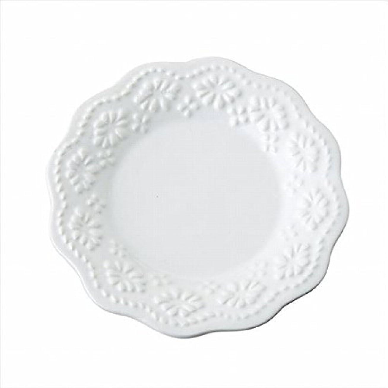 テーブル時刻表スタックカメヤマキャンドル( kameyama candle ) レースプレートS 「 ホワイト 」