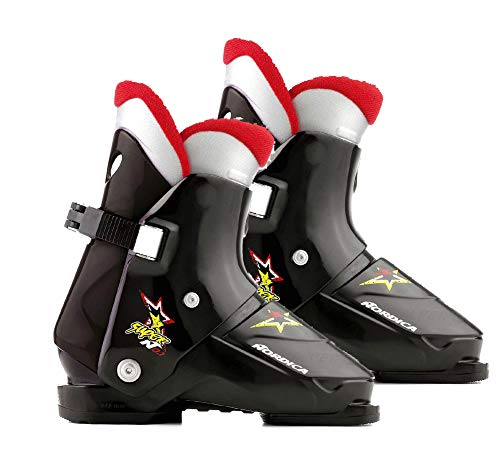 Nordica Super N01 Ski Boots Black Mondo Rear Entry Super n01, Mondo 25.5=Mens 7.5