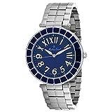 MATTHEY-TISSOT Mosaique Correa de acero inoxidable de cuarzo para hombre, plata, 20 reloj casual (Modelo: H6001ABU)