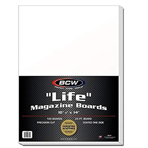 BCW BBMAG-L Life Size Magazine Backing Boards White 100...
