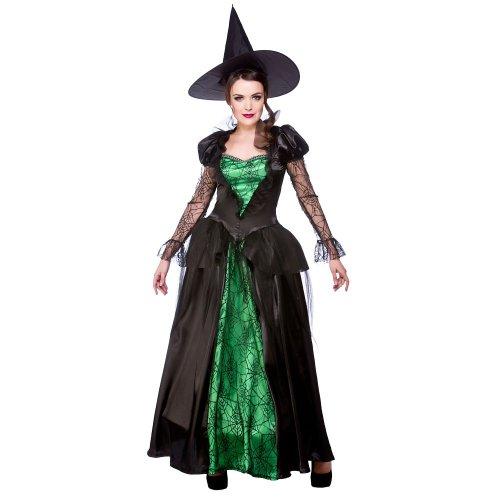 Emerald Witch Queen Adult Ladies Fancy Dress Costume