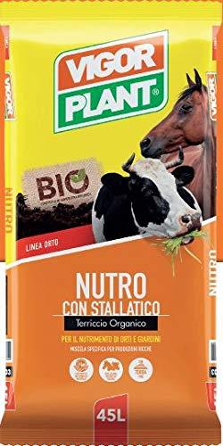 Vigorplant V103 Nutro con Stallatico Terriccio Organico per il Nutrimento di Orti e Giardini confezione da 45 litri