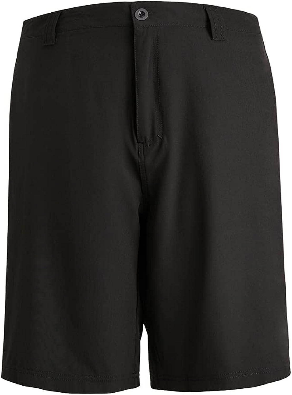 LeeHanTon Mens Work Shorts Performance Quick Dry Comfort Stretch Shorts (Black 301, 38)