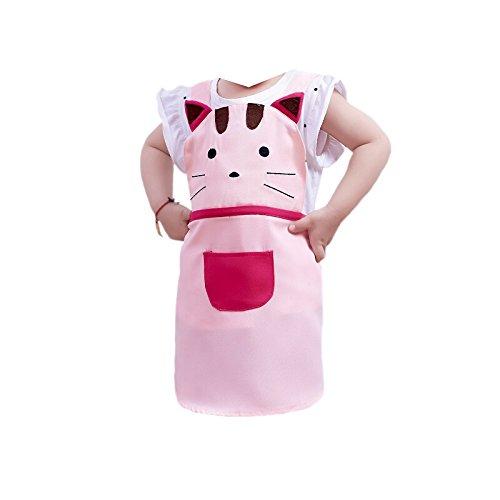 G2PLUS - Grembiule da cucina per bambini con tasca, 2–4anni Pink