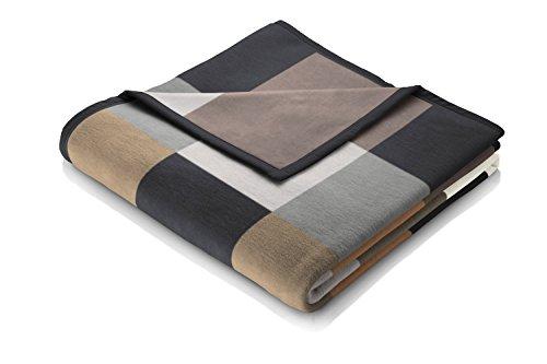 Biederlack Wohn- und Kuscheldecke, 60 % Baumwolle, Veloursband-Einfassung, 150 x 200 cm, Braun, Orion Cotton Habitat, 646330