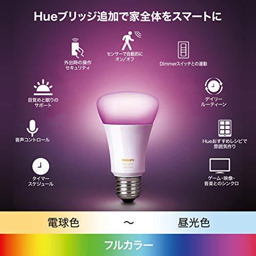 PhilipsHueフルカラーシングルランプBluetooth+Zigbee対応|E26LED電球スマートライト|1600万色、調光|Alexa、AmazonEcho、GoogleHome対応|アレクサ対応|