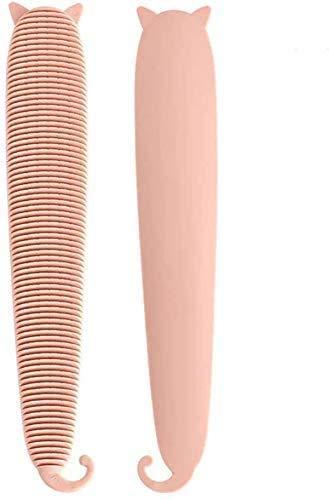 猫ブラシ 猫の舌 マッサージブラシ コーム くし グルーミング 櫛 模擬猫舌 敏感肌用 グルーミングくし ピンク