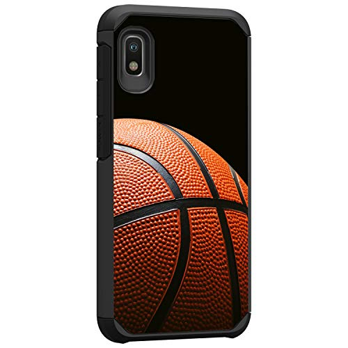 TurtleArmor | Compatible with Samsung Galaxy A10e Case | Samsung Galaxy A20e Case | Hard Shell Hybrid Fitted TPU Case Sports and Games Design - Basketball Seams