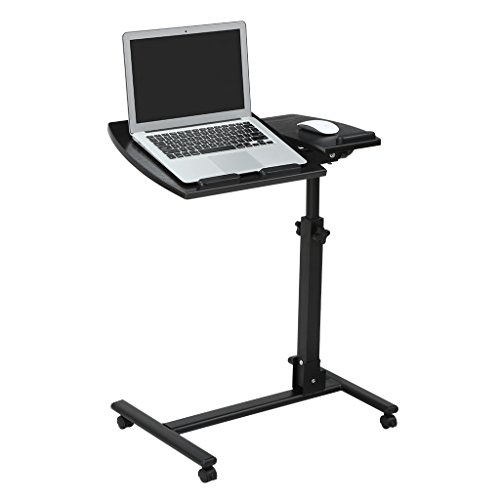 LANGRIA Laptop Rolling Cart Table Height Adjustable Mobile Laptop Stand Desk Photo #1
