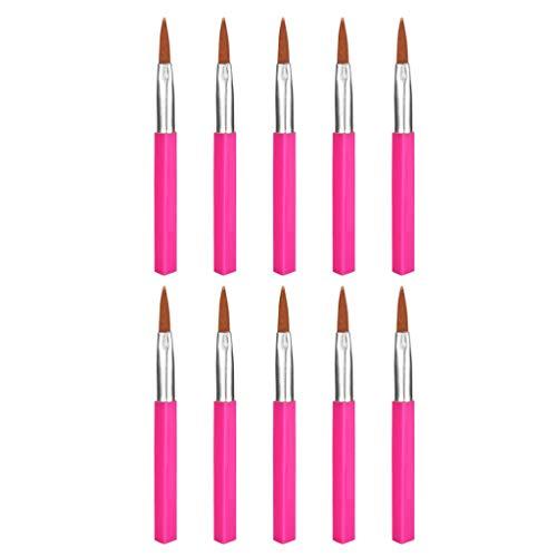 Eyeliner Brush, Fulltime Pinceau de maquillage Eyeliner Cosmetic Maquillage Pinceaux 10pcs / sac