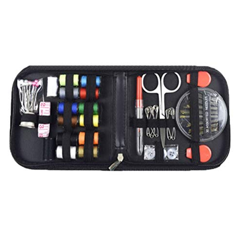 BESPORTBLE Sewing Supplies Organiser DIY Premium Sewing Kit Beginner Embroidery Accessories Supplies Tools Travel Emergency Sew Organiser with Carry Case for Home Office Camping Dress Clothes Repair