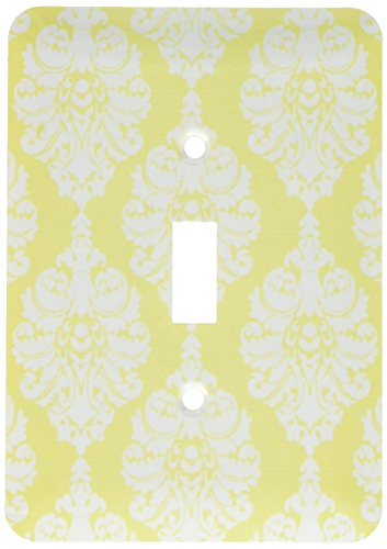 3dRose lsp_45446_1 Elegant White Damask On A Soft Yellow Background Toggle Switch