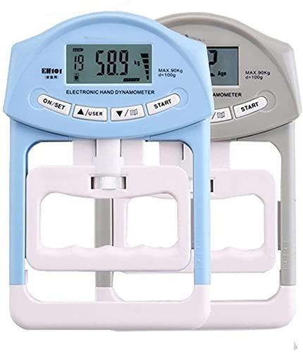 LXNQG Dinamómetro Dinámico Dinámico Dinamómetro Dinamómetro Empolleto Medidor de medición Auto Captura A Mano Grip Power 200 lbs / 90 kgs Mano GRIPTHENER (Color: Grey) (Color : Grey)