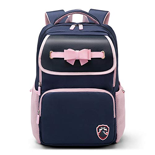 Boys and girls High quality schoolbag, British style shoulder bag, Growth health backpack, Safety Reflective strip, schoolbag that kids love-bluegirl
