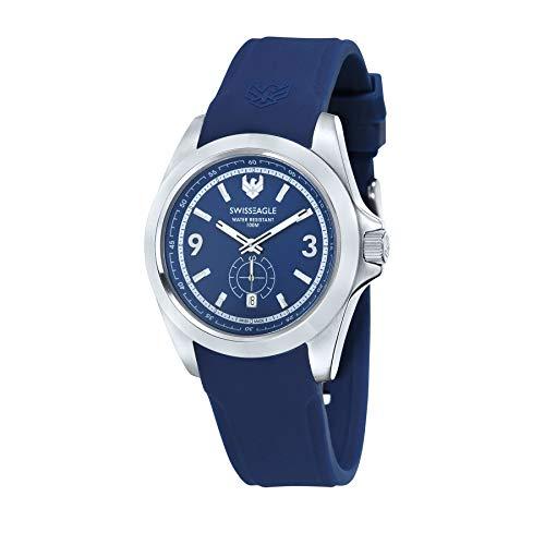 SWISS EAGLE SE-9064-02 - Reloj para Hombres, Correa de Silicona