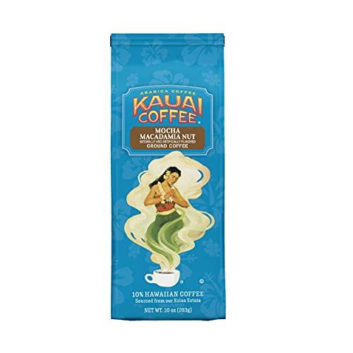Kauai Hawaiian Ground Coffee, Mocha Macadamia Nut Flavor (10 oz Bag) - 100% Premium Gourmet Arabica...