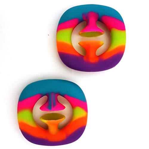 Snapper Fidget Toy 2Pack, Finger Sensory Snapper Fidget Toys Stress Relief Toy for Kids Adults,...
