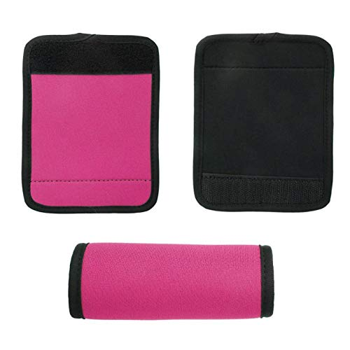 frenma Envoltura de manija de Maleta, Vida útil Prolongada y cómoda Envolturas de manija Universal Cubierta de manija de Equipaje, para Picnic al Aire Libre Producto(Pink)
