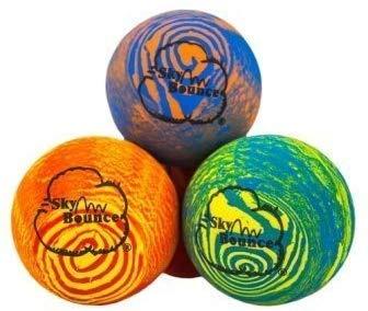 Sky Bounce Balls Rainbow Color Rubber Handball for Recreational Handball (Hand Ball), Stickball, Racquetball, Catch, Fetch, and Many More Games 2 1/4