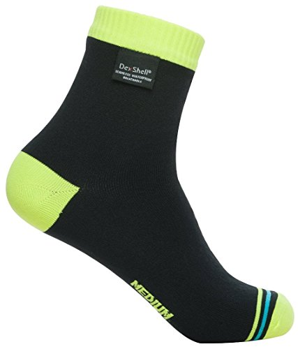 DexShell Ultralite Biking Sock - Hi Vis Yellow, Medium