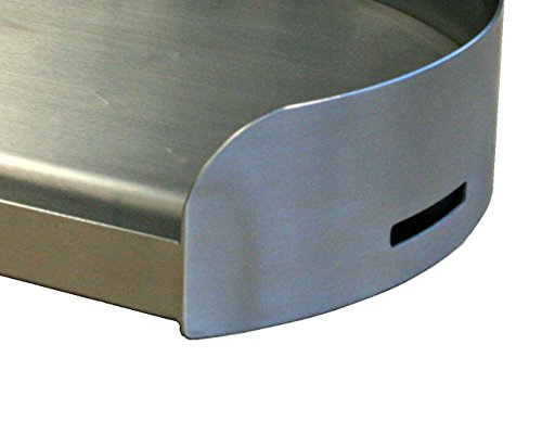 Kettle-Q Little Griddle KQ17R 100% Stainless Steel Round Griddle with Even Heating Cross Bracing for Charcoal/Gas Grills, Camping and Tailgating (17'x14'x3.5') for Round Grills more than 18' Diameter