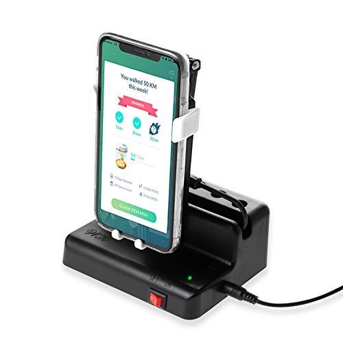 NEWZEROL Handy Swing Zubehör Kompatibel für Poke Ball Plus/Pokemon Go Handy [Max 6,4 Zoll] Automatischer Shake-Schrittzähler, [USB-Kabel][Einfache Installation] Schnelle Schritte Verdienen Gerät-Weiß…