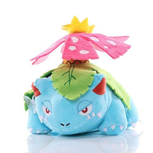 HHtoy 16cm Animado Pokemon Juguetes de Peluche Venusaur Figuras Historieta de la muñeca Almohadilla del Juguete de Peluche Suave Juguetes for niño y niñas Regalos