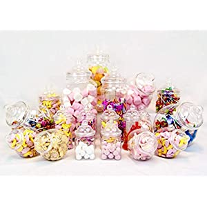 19 jar variety victorian style plastic candy buffet sweet jar kit 19 Jar Variety Victorian Style Plastic Candy Buffet Sweet Jar Kit 41zqa5RpnoL