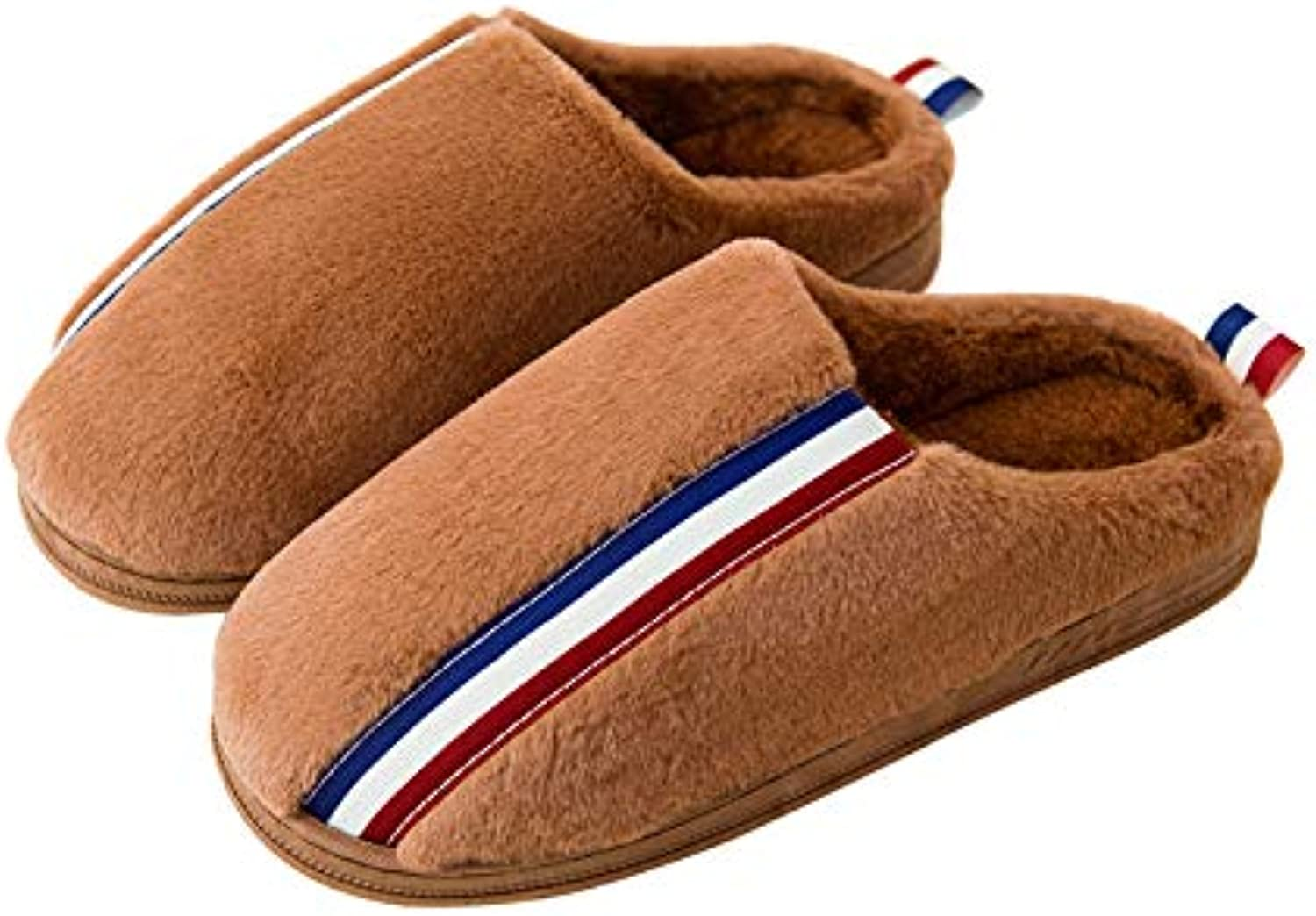 Winter Slippers Soft Flannel House Slippers Plush Lining Clog Anti-Slip Indoor shoes Adult Women Men