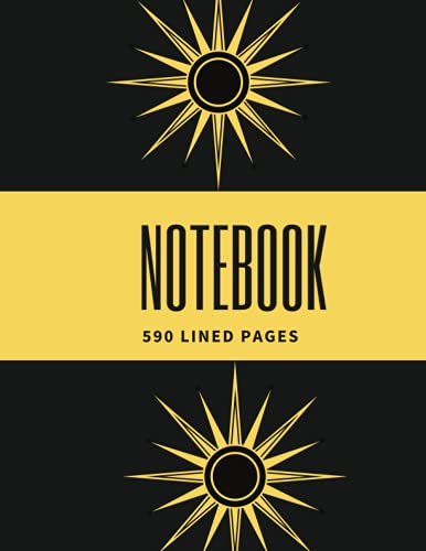 """Big Black Journal NoteBook: 590 Lined pages """"8.5 x 11 inches """" black cover"""