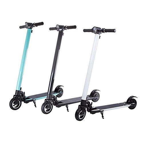 Elektrische scooter 250 W E-scooter gemakkelijk inklapbaar 6 inch Super Endurance twee ongeveer 8 km/u maximale belasting 120 kg 250 W, zwart