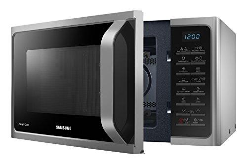 Samsung MC28H5015CS Forno a Microonde Combinato, SmartOven, 900 W, Grill 1500 W, 28 L, Argento