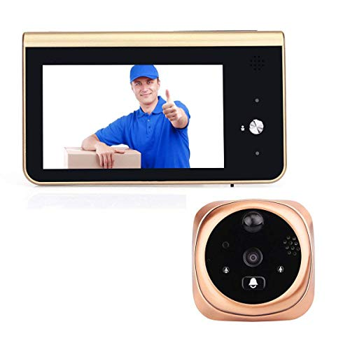 YANGSANJIN 4,3 inch draadloze deurspion veiligheidsdeurbel 720P video visueel tegen intercomsysteem nachtzicht Smart WiFi deurbel video deurbel WiIFi camera