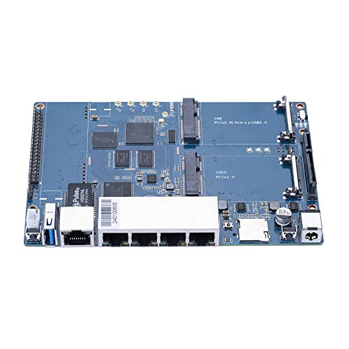 Banana Pi R64 Router/BPi Open Source Router/Banana Pi Development Board,1.35GHZ 64 bit Dual-Core Arm Cortex-A53,Built-in 4x4n 802.11n/Bluetooth 5.0 System-on-Chip,PoE Function Support.