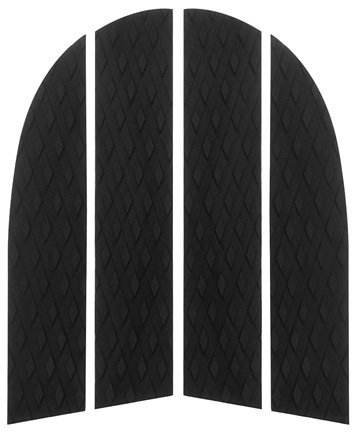 PUNT SURF Dog Traction Pad - 4 Piece Customizable Deck Grip for The Nose of Your Paddleboards, Longboards & Surfboards. - Guaranteed to Stick Forever on Your Board [Black]