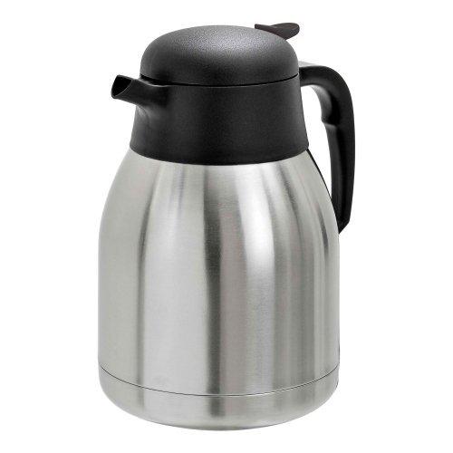 Bartscher Edelstahl Isolierkanne, 1,5 Liter - Thermoskanne Teekanne Kaffeekanne