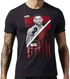 Camisa Reebok Chris Weidman UFC Black Fighter Masculina