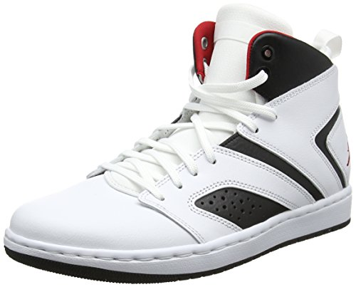 Nike Herren Jordan Flight Legend Basketballschuhe, Mehrfarbig (White/Gym Red-Black 112), 43 EU