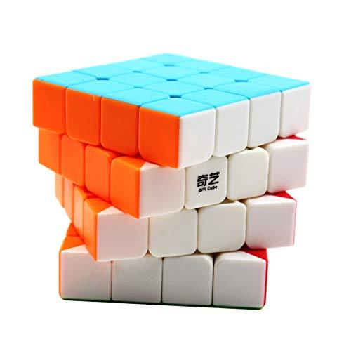 Moruska Qiyi 4x4 Speed Cube Stickerless 4x4x4 Magic Cube Puzzle Toy - Qi Qiyuan S