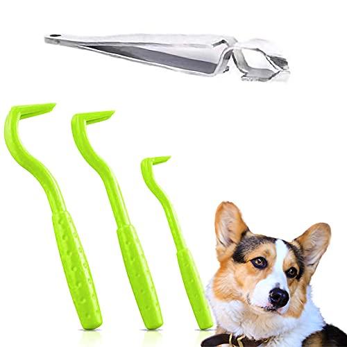Befitery Juego de pinzas para eliminar garrapatas para perros, pinzas para garrapatas, pinzas para garrapatas, método fiable para la protección contra garrapatas para perros, gatos y caballos.