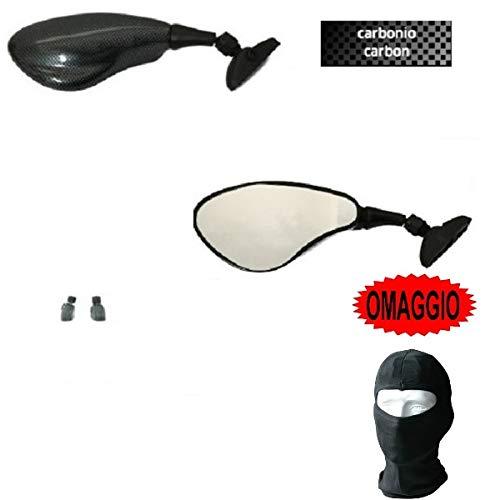 Compatible con RIEJU RS2 125 Pro Pareja DE Espejos DE CARENADO para Motocicleta Far Approved E13 Negro