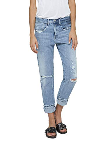 Replay Damen HETER Boyfriend Jeans, Blau (Light Blue 10), W27/L32 (Herstellergröße: 27)